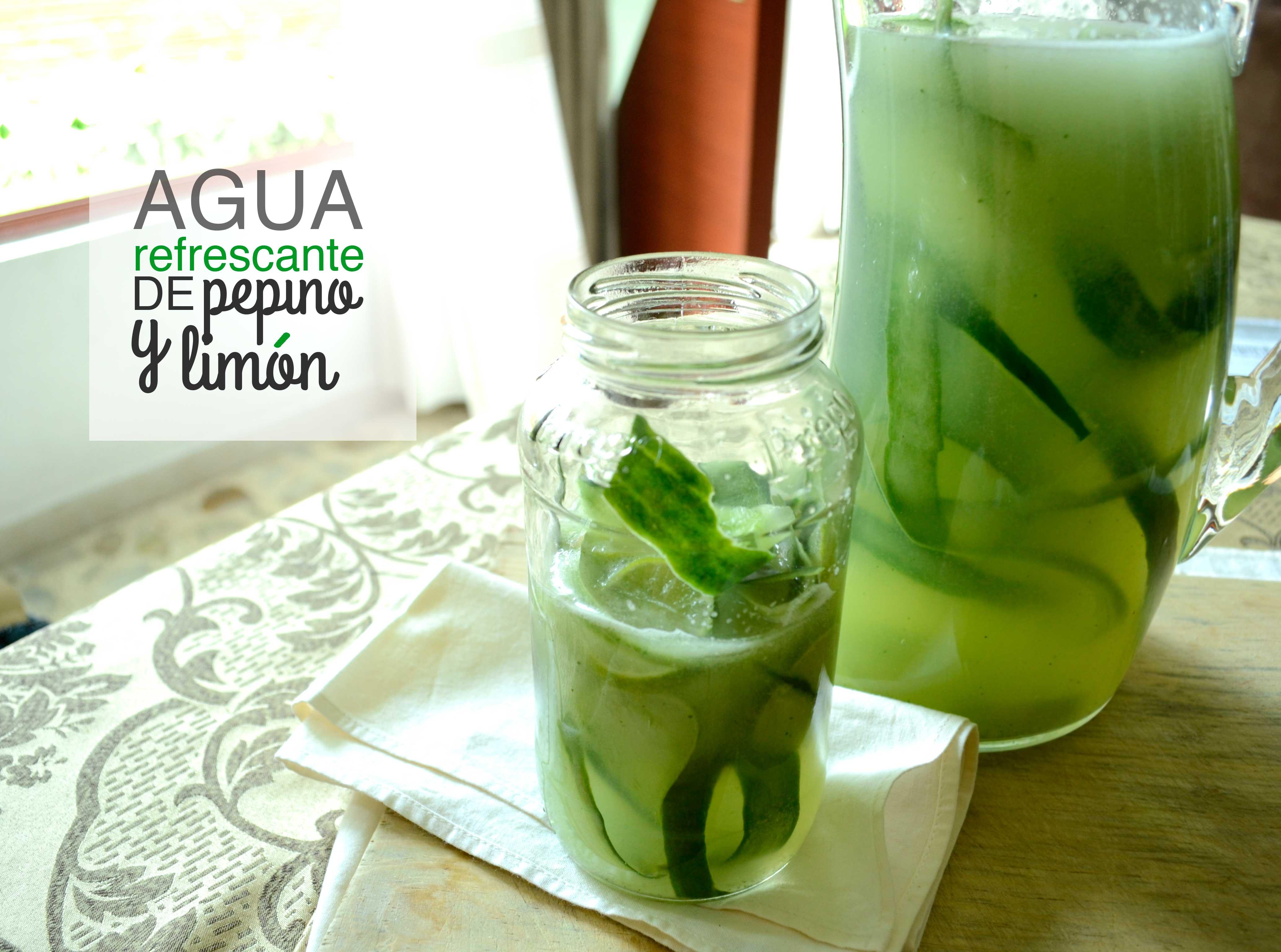 Agua de limon y pepino para adelgazar